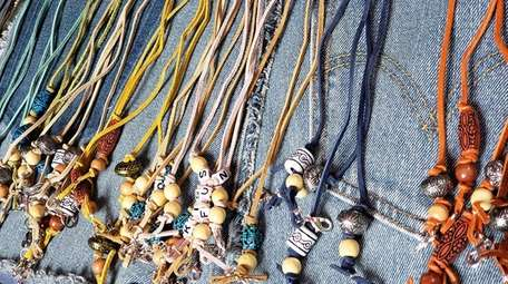 Handmade, jewelry-like mask holders for teens and off-to-college