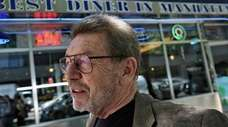 Pete Hamill during an interview at the Skylight
