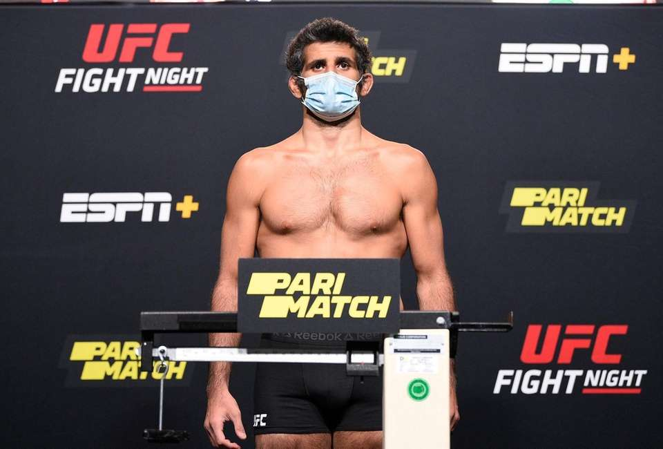 In this handout image provided by UFC, Beneil