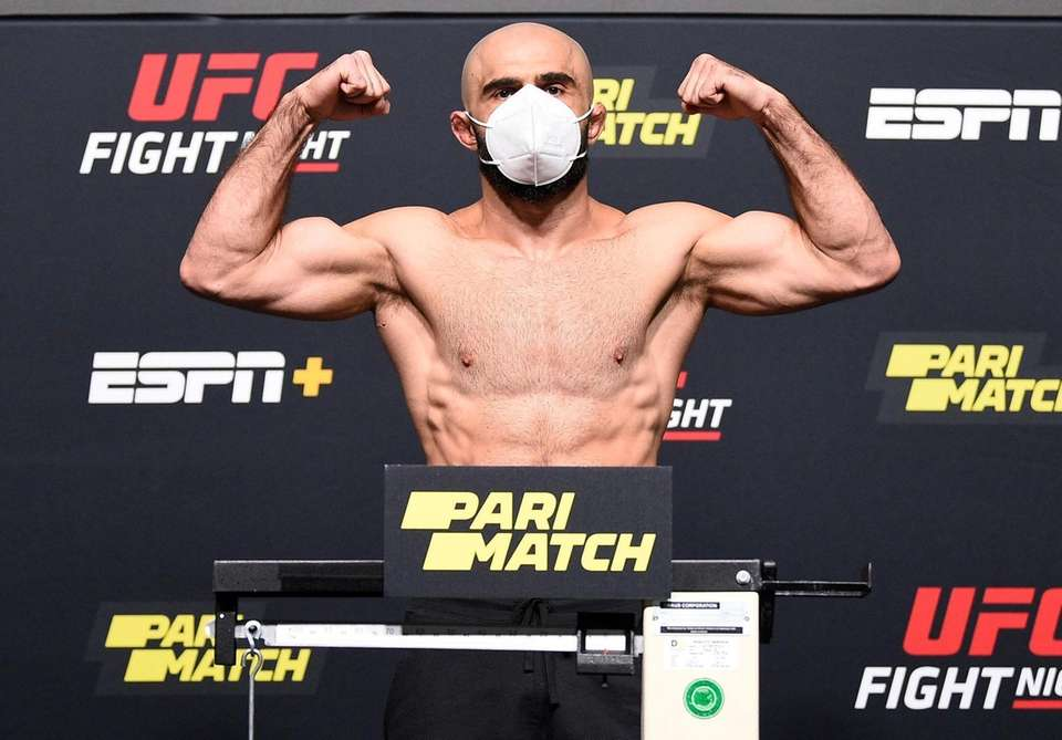 In this handout image provided by UFC, Omari