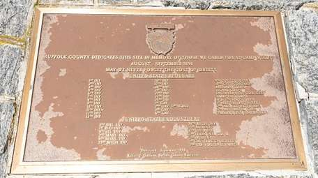 Suffolk County dedicated a plaque in September 1998