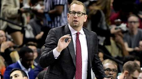 Raptors head coach Nick Nurse of the Raptors