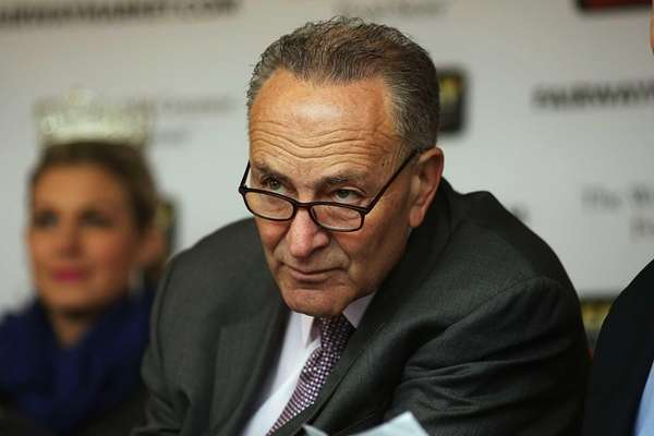 Sen. Chuck Schumer (D-NY) attends the re-opening ceremonies