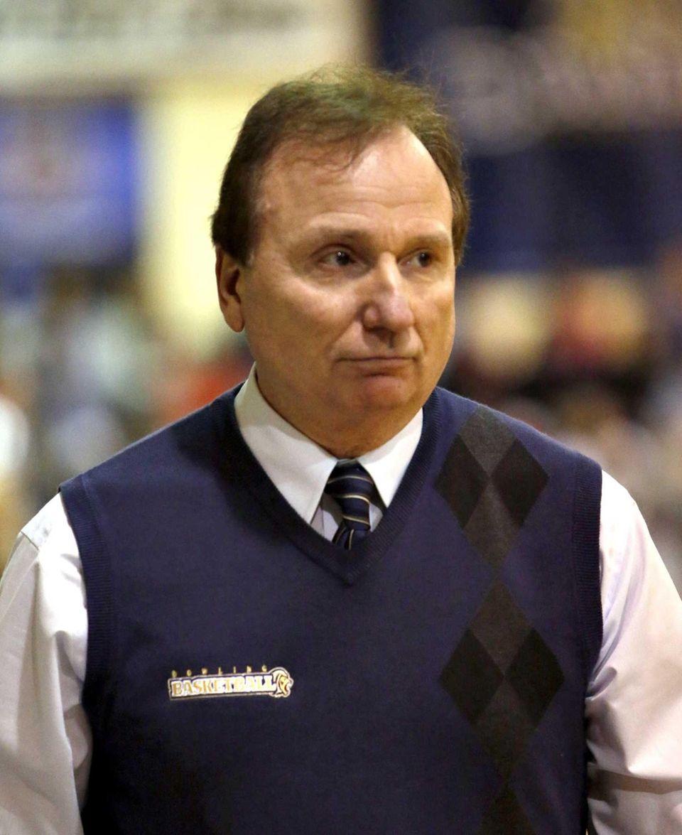 Dowling women's basketball head coach Joe Pellicane paces