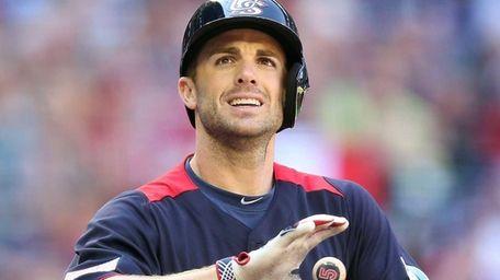 David Wright of the USA grabs his bat