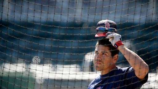 Boston Red Sox outfielder Jacoby Ellsbury looks on