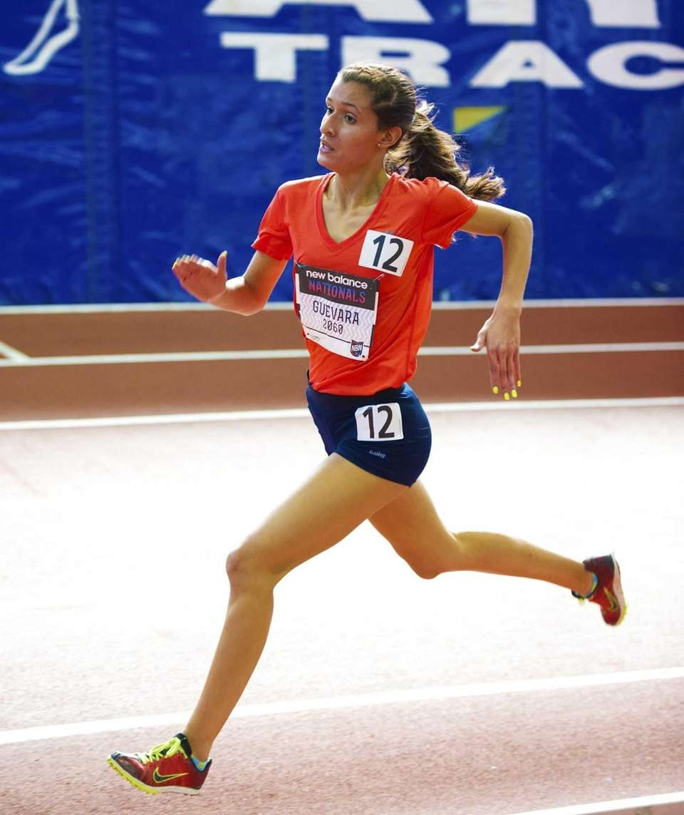 Tianna Guevara of Miller Place finishes ninth in