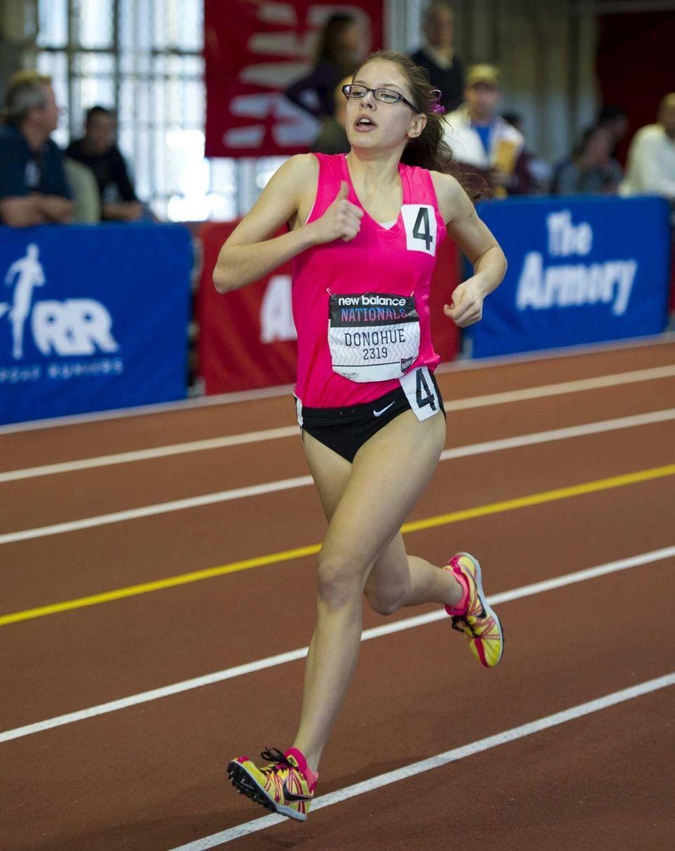 Jessica Donohue of North Shore ran 11:15.16 to