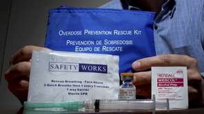 A drug antidote kit containing Narcan is pictured