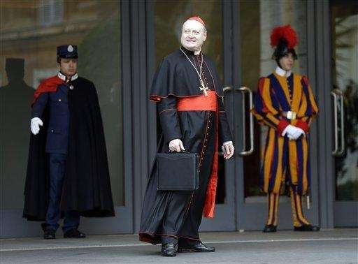 Cardinal Gianfranco Ravasi arrives for an afternoon meeting