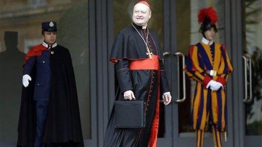 Cardinal Gianfranco Ravasi arrives for an afternoon meeting