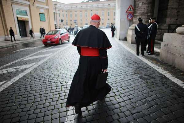 Canadian Cardinal Marc Ouellet makes his way to