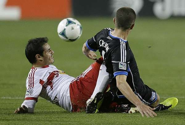 Fabian Espindola, left, and the San Jose Earthquakes'