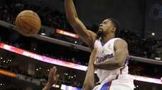 Los Angeles Clippers center DeAndre Jordan dunks the