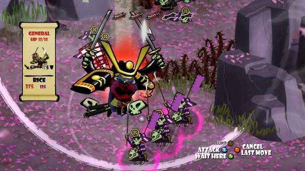 "A screengrab from the video game ""Skulls of"