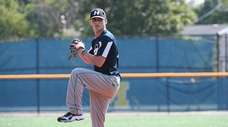 Hofstra pitcher Mark Faello, from Plainview, has beaten