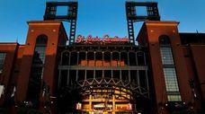 Busch Stadium, home of the St. Louis Cardinals,