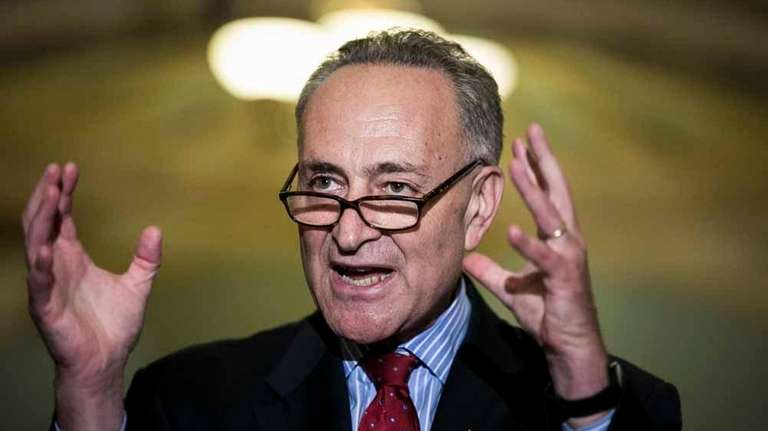 U.S. Sen. Charles Schumer (D-N.Y.) addresses a news