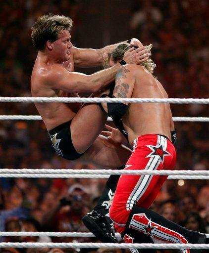 WWE Superstar Chris Jericho retains his World Heavyweight