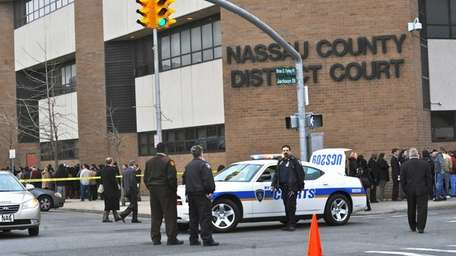 The Nassau County District Court House was cleared