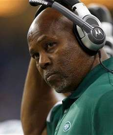 Dennis Thurman looks on during a game against