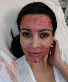 Kim Kardashian tweeted this picture of her vampire