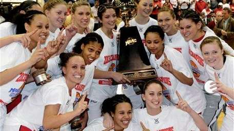 Marist College players pose with the MAAC Tournament