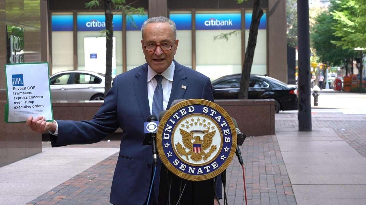 Senator Chuck Schumer (D-N.Y.) criticized the President's recent
