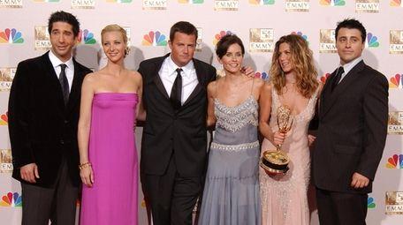 """Friends"" stars David Schwimmer, from left, Lisa Kudrow,"