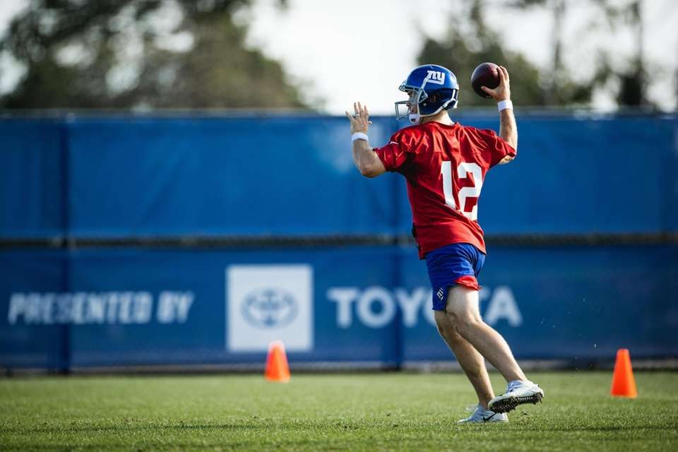 Giants quarterback Colt McCoy in training camp on