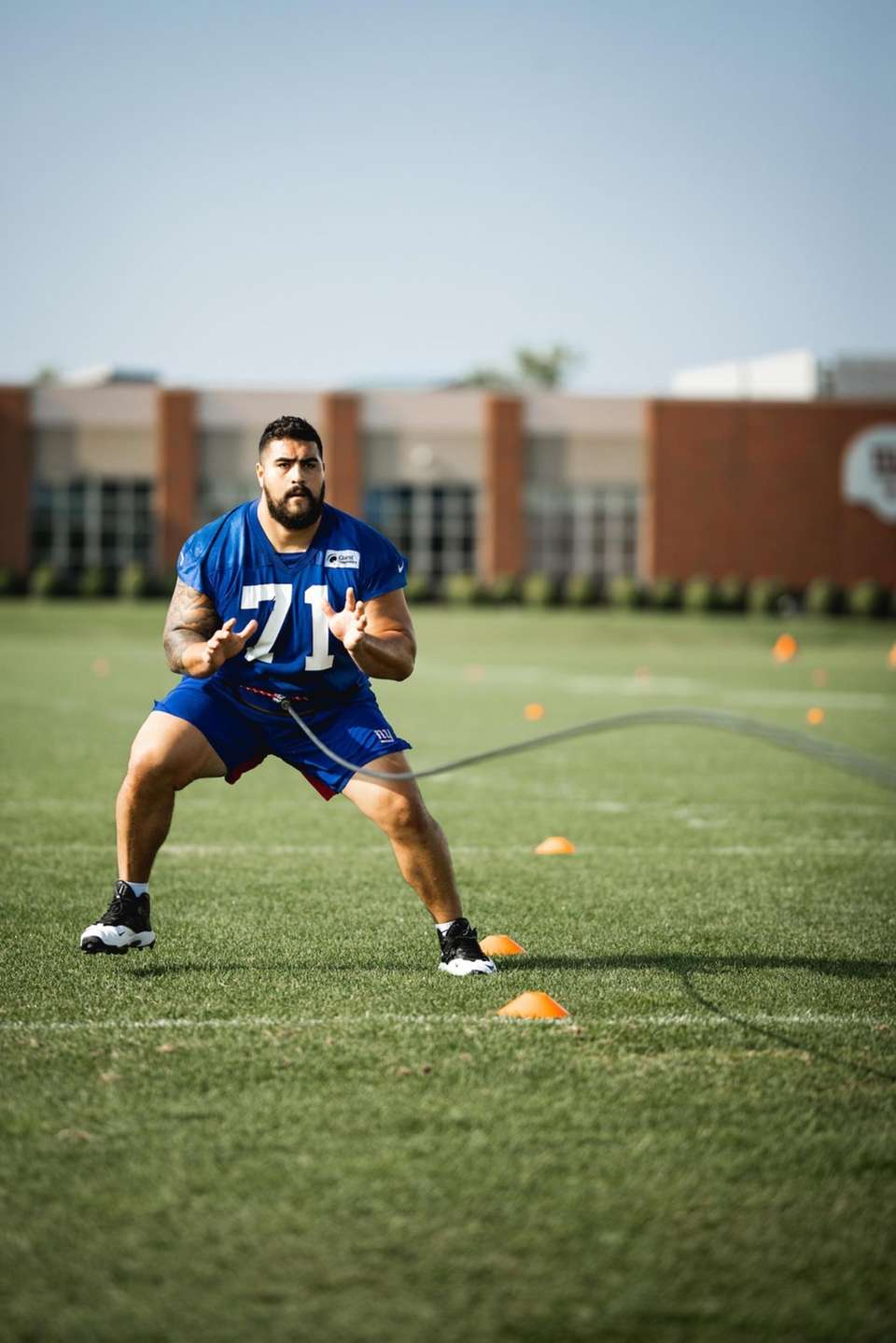 Giants lineman Will Hernandez participates in training camp