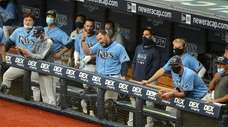 Mike Zunino #10 of the Tampa Bay Rays,