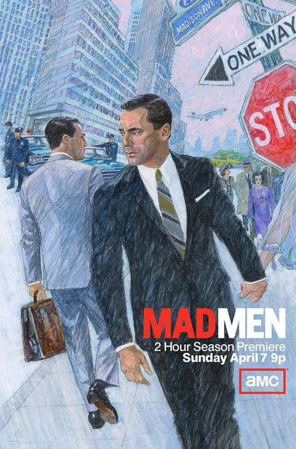 """Mad Men"" season 6 billboard by British illustrator"