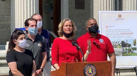 Nassau County Executive Laura Curran said she would