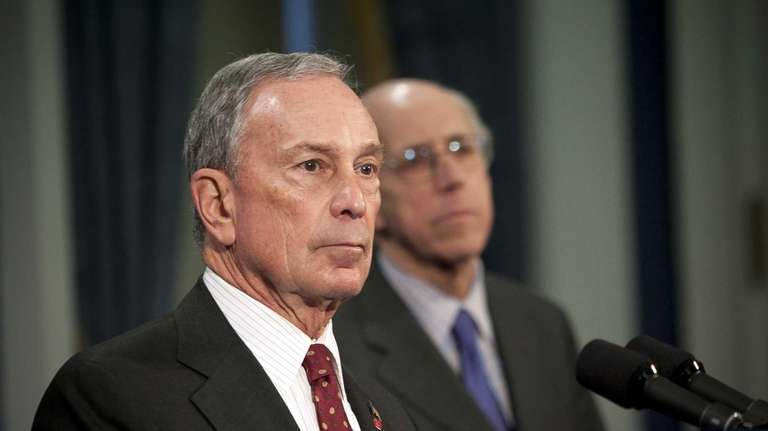 Mayor Michael Bloomberg speaks at a news conference
