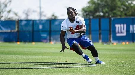 Markus Golden during Giants training camp on Wednesday,