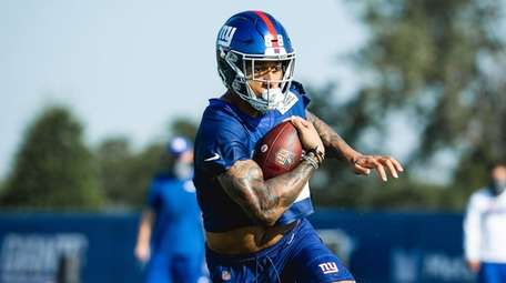 Tight end Evan Engram at Giants training camp