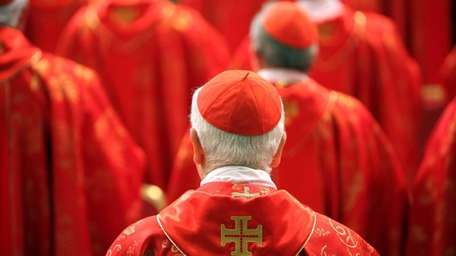 Cardinals attend the Pro Eligendo Romano Pontifice Mass