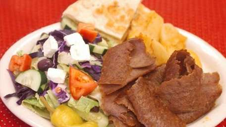 This is the house-made beef and lamb gyro