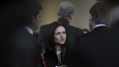 Sheryl Sandberg, chief operating officer of Facebook, in