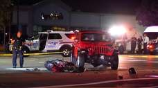 Nassau County police are investigating a fatal collision