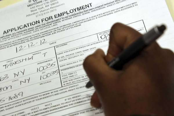 File photo of a person filling out a