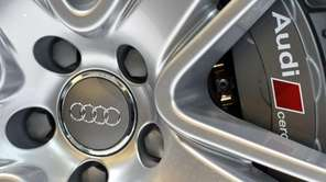 The Audi logo is seen on the ceramic