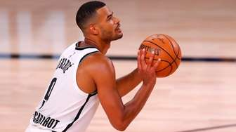 Timothe Luwawu-Cabarrot of the Brooklyn Nets shoots against