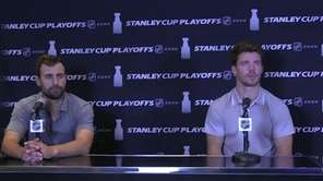 New York Islanders winger Jordan Eberle speaks on