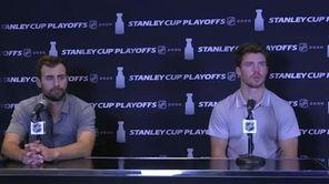 New York Islanders winger Jordan Eberle speaks on