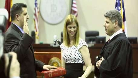 Brookhaven Town swears in its newly elected highway