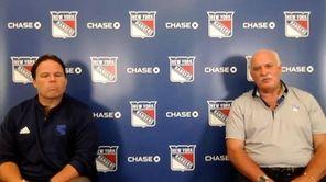 Rangers president John Davidson andJeff Gorton spoke on