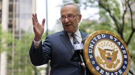 U.S. Senator Charles Schumer on Sunday, Aug. 9,