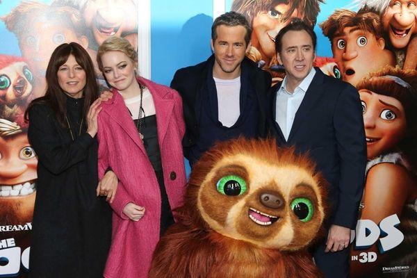 Actors Catherine Keener, Emma Stone, Ryan Reynolds and